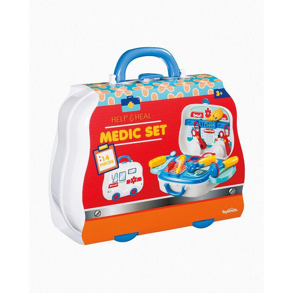 MEDIC TOY SET WITH DOCTOR BAG-TOYSMITH-Kitson LA