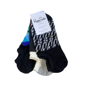 MEN'S 3-PACK FLASH SNEAKER LINER SOCK-HAPPY SOCKS-Kitson LA