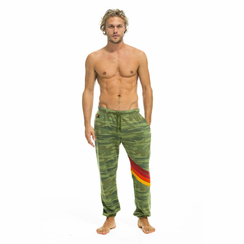MENS CHEVRON CAMO SWEATPANTS-AVIATOR NATION-Kitson LA