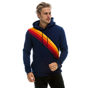 MENS CROSS STRIPE PULLOVER HOODIE-AVIATOR NATION-Kitson LA