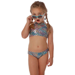 MERMAID HIGH NECK BIKINI-CRUZ SWIM-Kitson LA