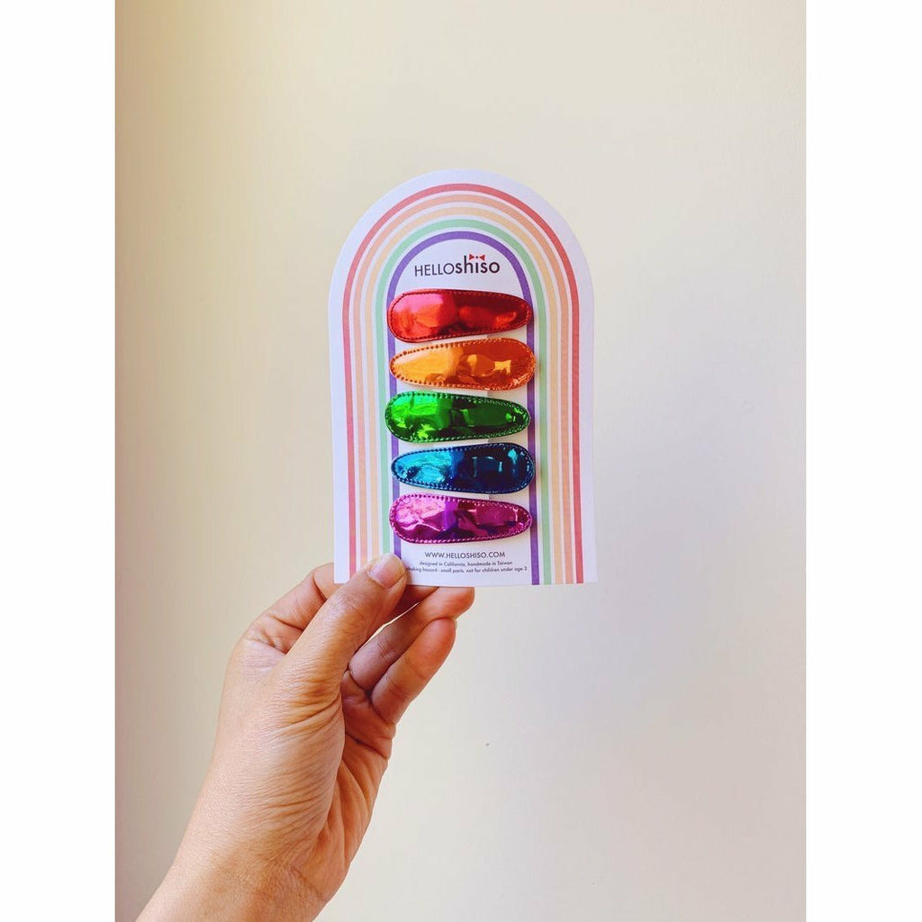 METALLIC CLIPS RAINBOW SET-HELLO SHISO-Kitson LA