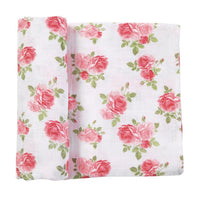 MUSLIN ROSE SWADDLE BLANKET-MUD PIE-Kitson LA
