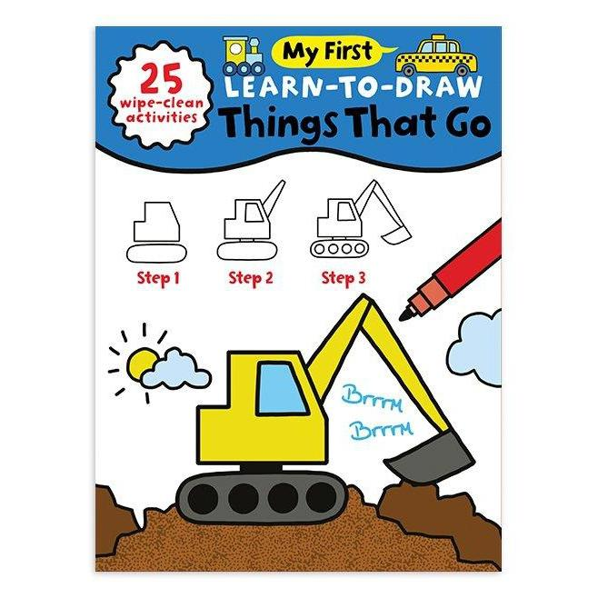 MY FIRST LEARN TO DRAW: THINGS THAT GO-SOURCEBOOKS, INC-Kitson LA