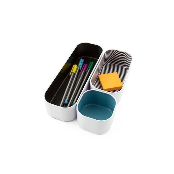 PETITE STACKING BINS SET OF 3-THREE BY THREE-Kitson LA