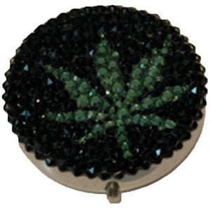 POT LEAF BLING PILL BOX-MADELINE BETH-Kitson LA