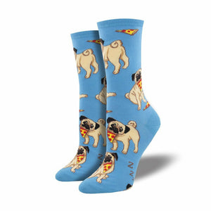 PUG WITH PIZZA SOCKS-SOCKSMITH-Kitson LA