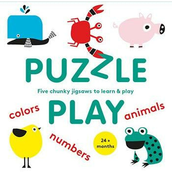 PUZZLE PLAY: FIVE CHUNKY JIGSAWS TO LEARN & PLAY-HACHETTE BOOK GROUP-Kitson LA