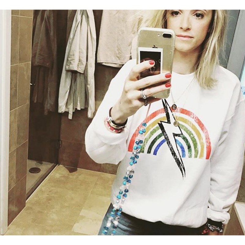 RAINBOW STRIKE PULLOVER-PRINCE PETER COLLECTION-Kitson LA