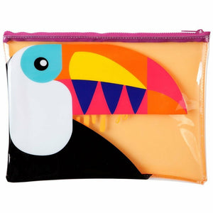 SEE THROUGH TOUCAN BEACH POUCH-SUNNYLIFE-Kitson LA