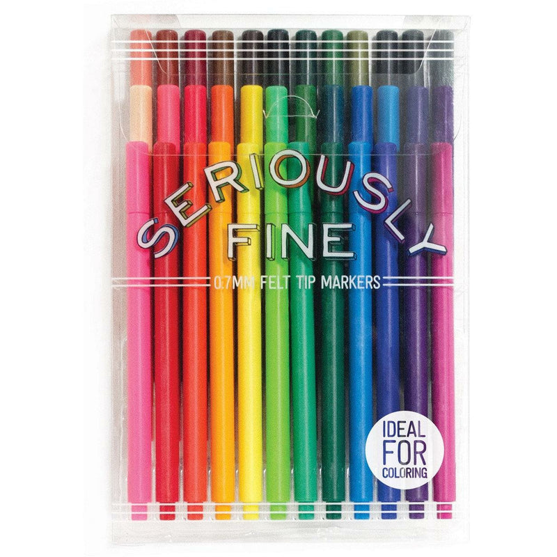 SERIOUSLY FINE FELT TIP MARKERS-INTERNATIONAL ARRIVALS-Kitson LA