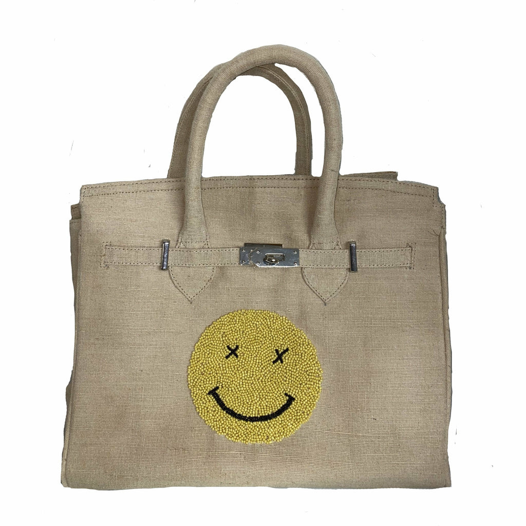 SMILEY SMALL BEADED TOTE-TIANA DESIGNS-Kitson LA