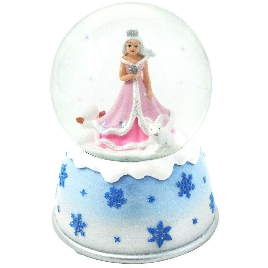 SNOW PRINCESS MUSICAL SNOW GLOBE-PINK POPPY-Kitson LA