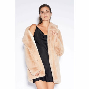 SOPHIE FAUX FUR MEDIUM LENGHT COAT-APPARIS-Kitson LA