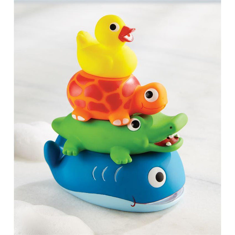 STACKABLE RUBBER BATH TOYS-MUD PIE-Kitson LA