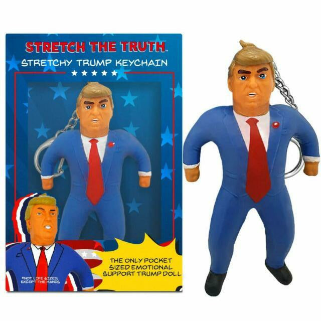 STRETCH TRUMP KEYCHAIN-STRETCHED POLITICS-Kitson LA