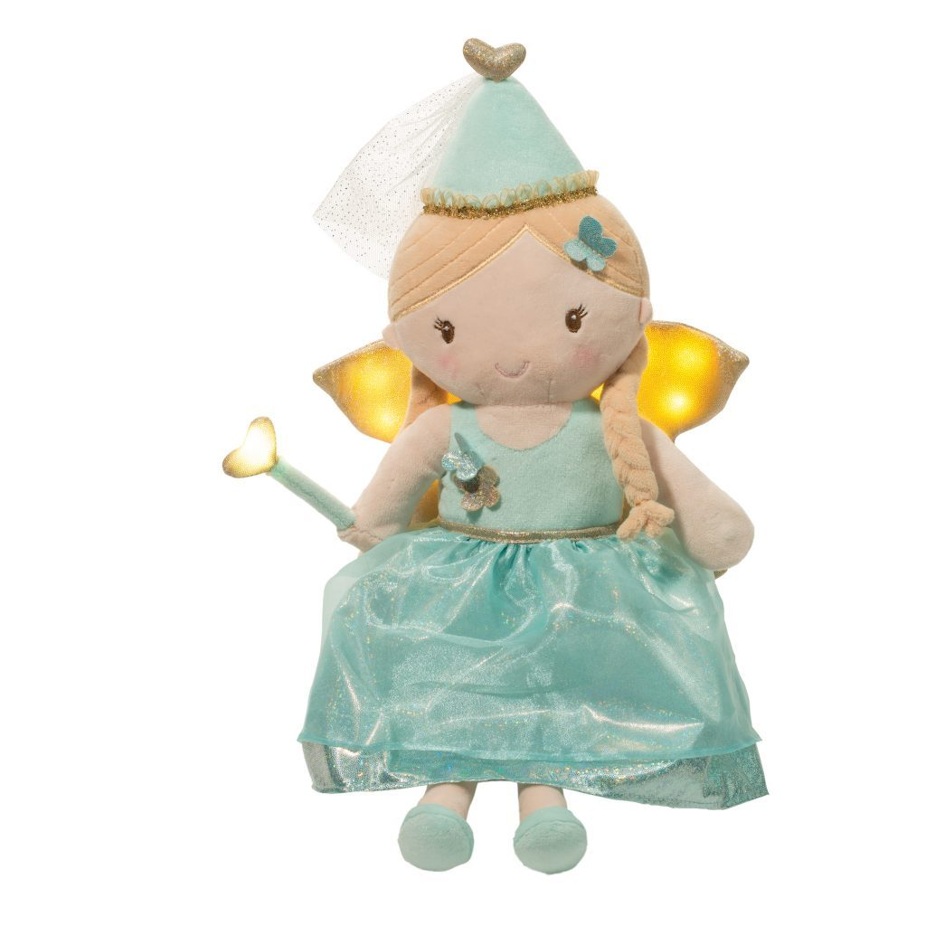TEALIA AQUA LIGHT & SOUND FAIRY DOLL-DOUGLAS CUDDLE TOYS-Kitson LA