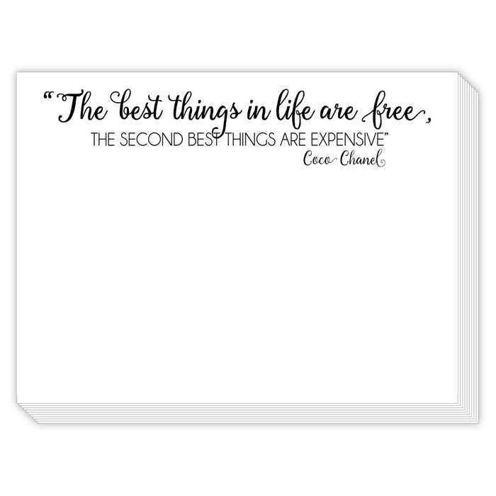 THE BEST THINGS IN LIFE ARE FREE MINI SLAB NOTEPAD-ROSANNEBECK COLLECTIONS-Kitson LA