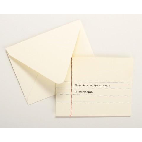 THERE IS A SMIDGE OF MAGIC IN EVERYTHING HAND SEWN CARD-SECOND NATURE BY HAND-Kitson LA