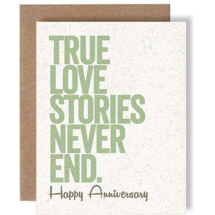 TRUE LOVE STORIES CARD-SKEL-Kitson LA