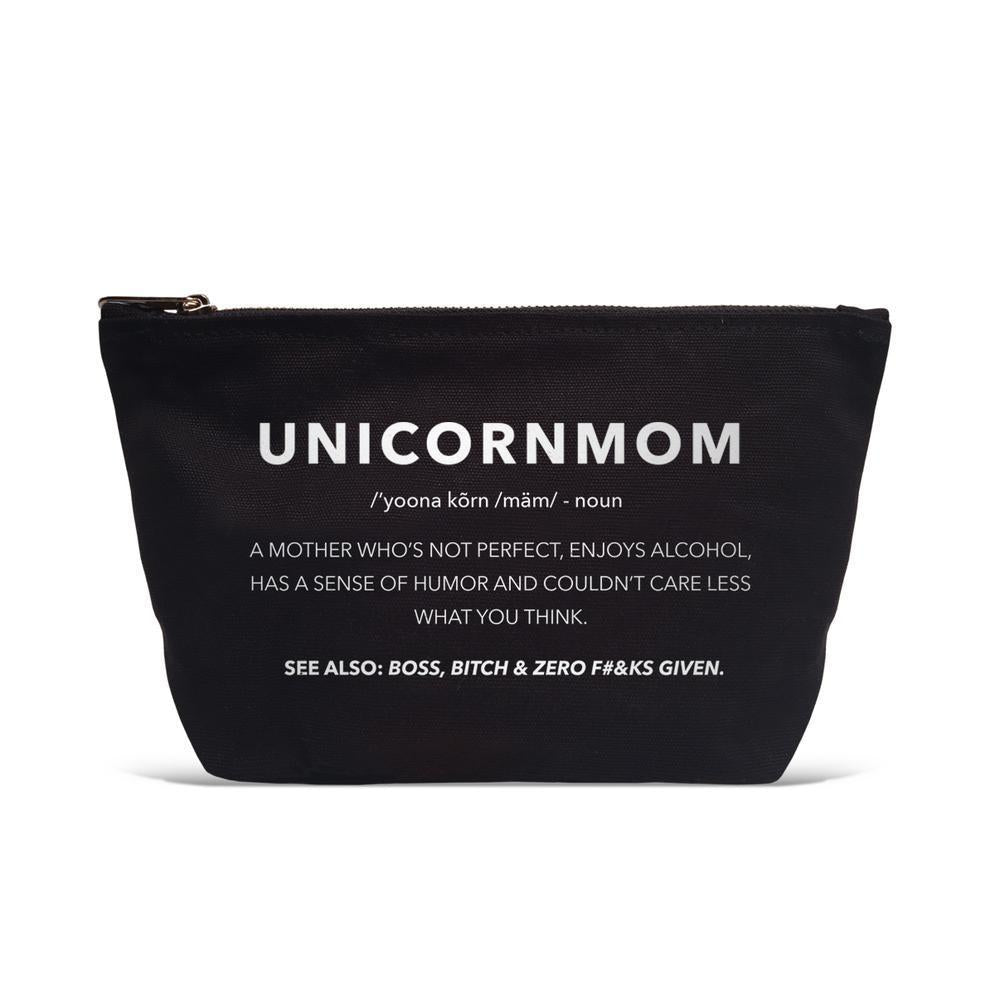 UNICORN MOM CANVAS POUCH-LATC-Kitson LA