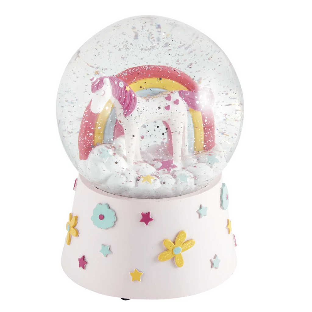 UNICORN MUSICAL SNOW GLOBE-FLOSS AND ROCK-Kitson LA