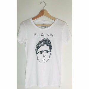 WOMENS F IS FOR FRIDA T-SHIRT-ANCHORS N ASTEROIDS-Kitson LA