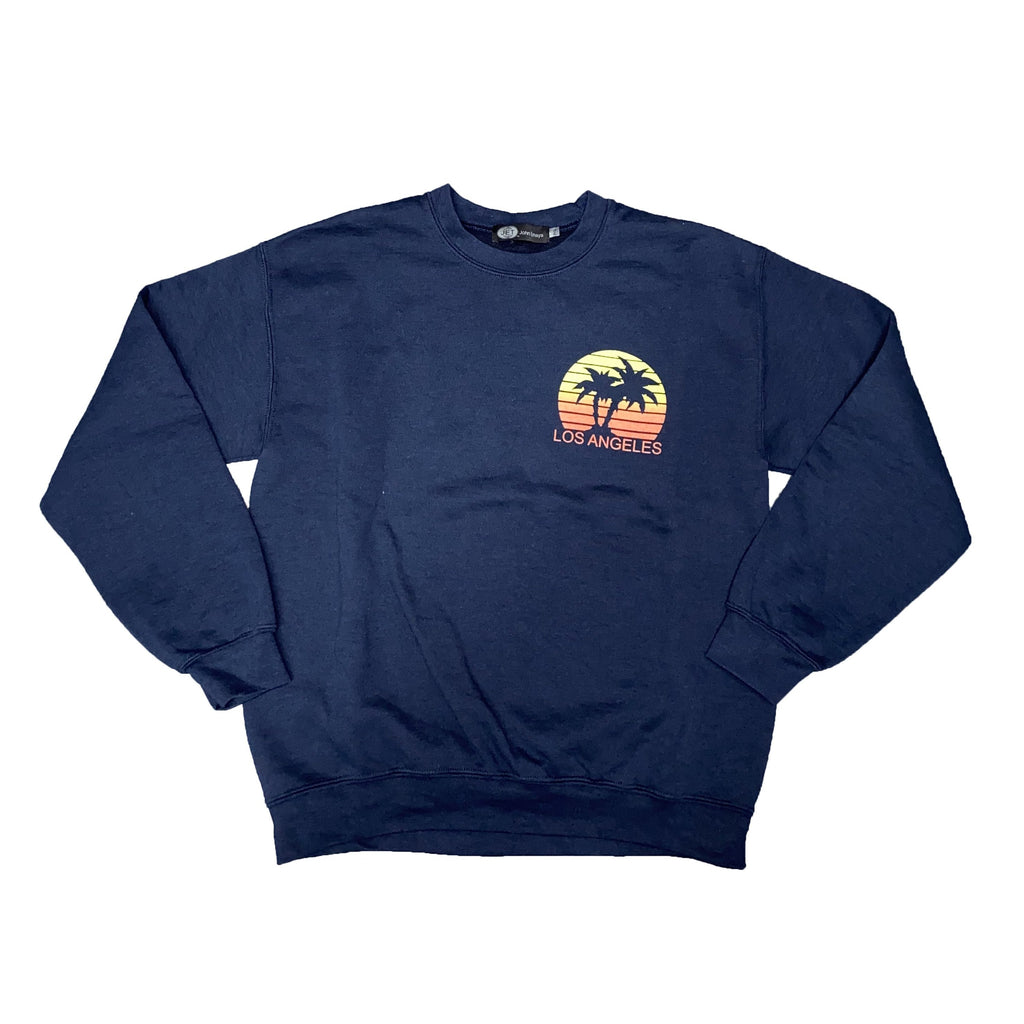 WOMENS LOS ANGELES PALM TREE CREWNECK SWEATSHIRT-JET-Kitson LA