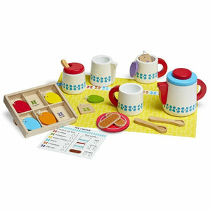 WOODEN STEEP & SERVE TEA SET-MELISSA & DOUG-Kitson LA