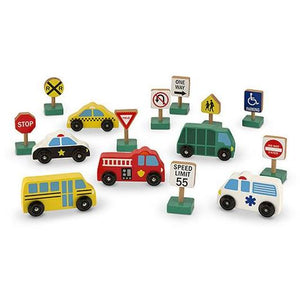 WOODEN VEHICLES AND TRAFFIC SIGNS-MELISSA AND DOUG-Kitson LA