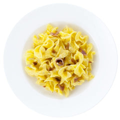 Nuvole in egg sauce with anchovies