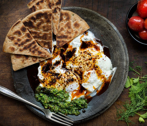 poached eggs with urfa biber