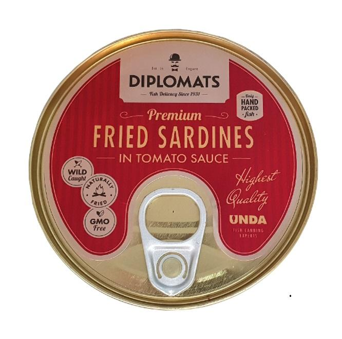 Fried sardines in tomato sauce