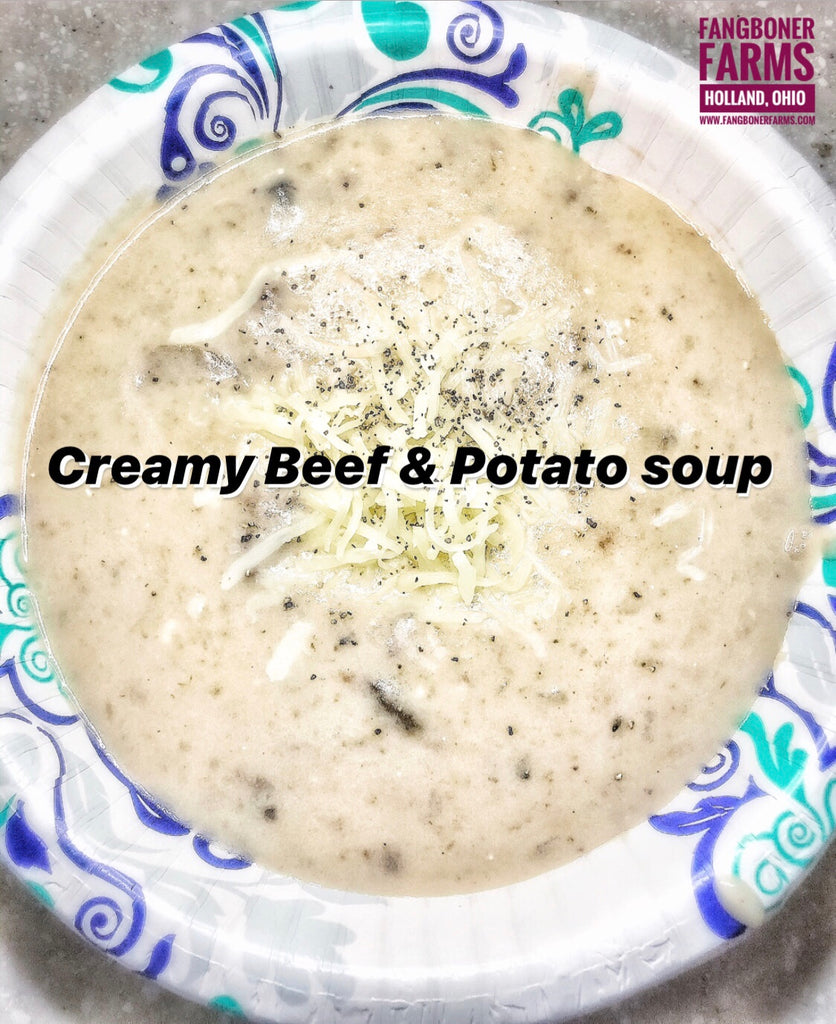 Creamy Beef & Potato Soup 🥩 🥔
