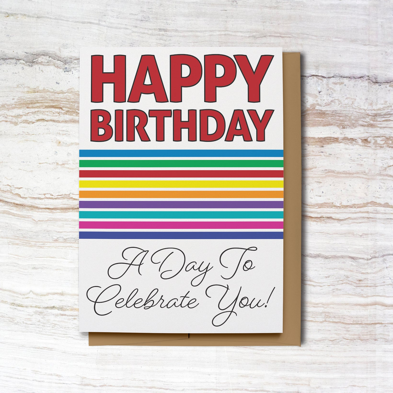 New! Bold Rainbow Happy Birthday Cards