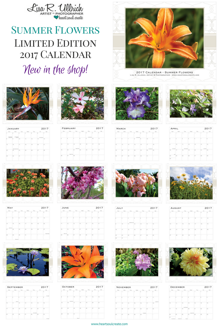 Limited Edition 2017 Calendars Summer Flowers
