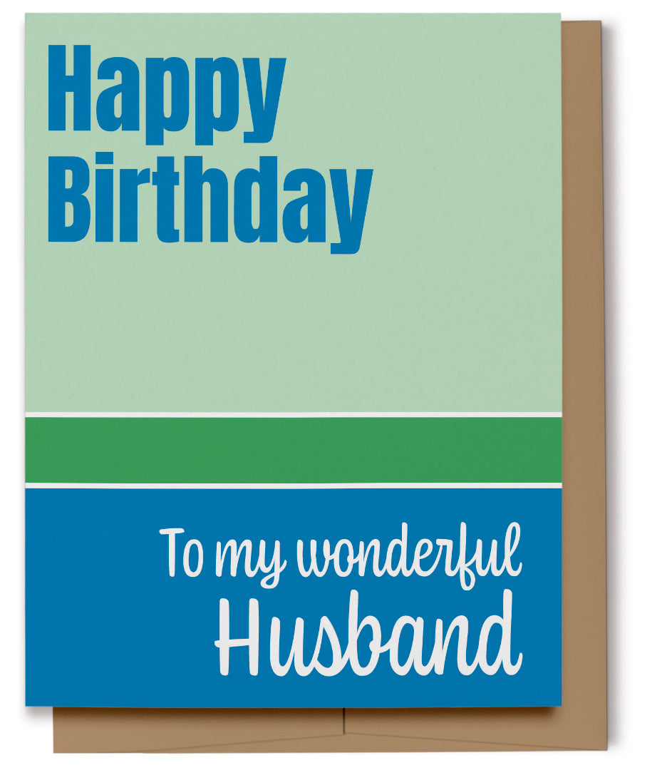 Happy Birthday - Husband (100% Recycled)
