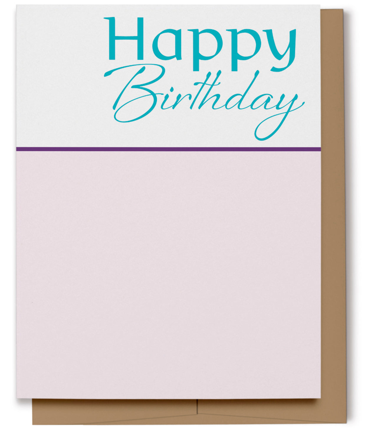Happy Birthday Card - Aqua & Pink (100% Recycled)