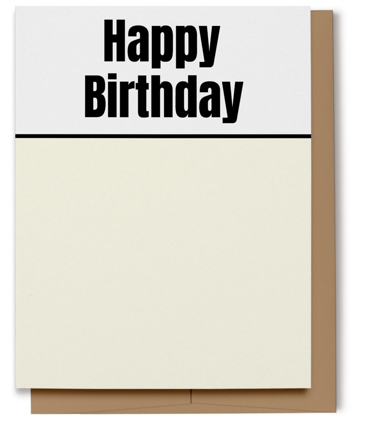 Happy Birthday Card - Black & Cream (100% Recycled)