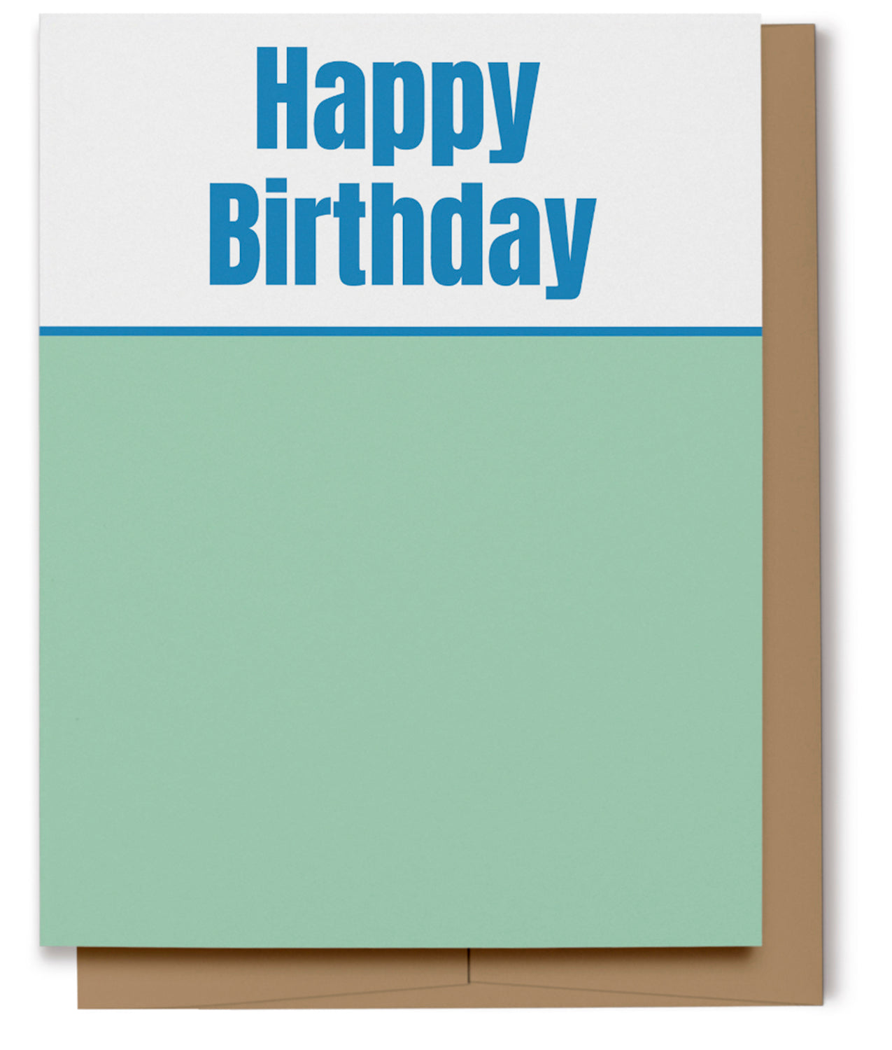 Happy Birthday Card - Blue & Green (100% Recycled)