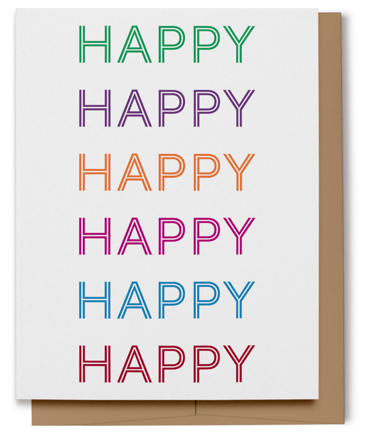 Happy, Happy, Happy Card (100% Recycled)