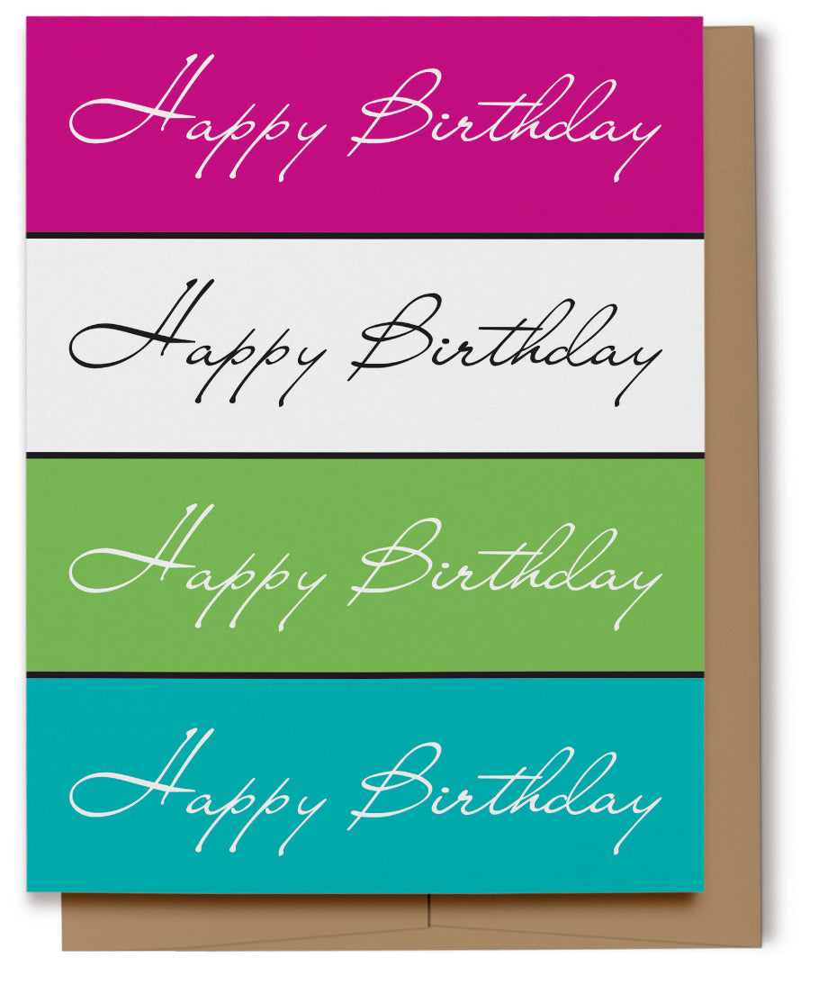 Happy Birthday Card (100% Recycled)