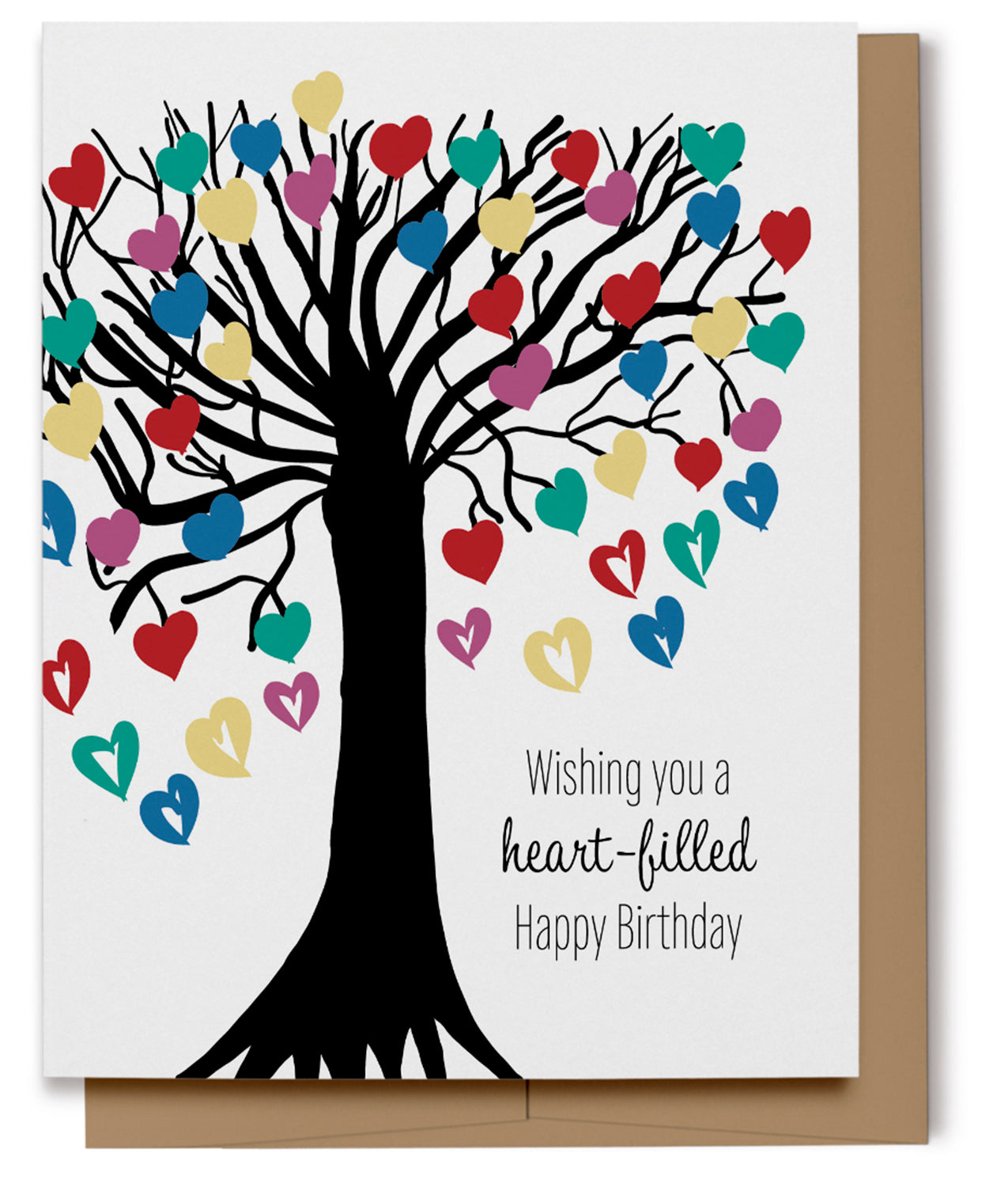 Heart-filled Happy Birthday Card (Imperfect)