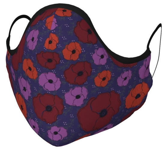Bold Poppies Face Mask