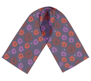 Bold Poppies Long Silk Scarf