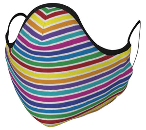 Bold Rainbow Stripes Face Mask