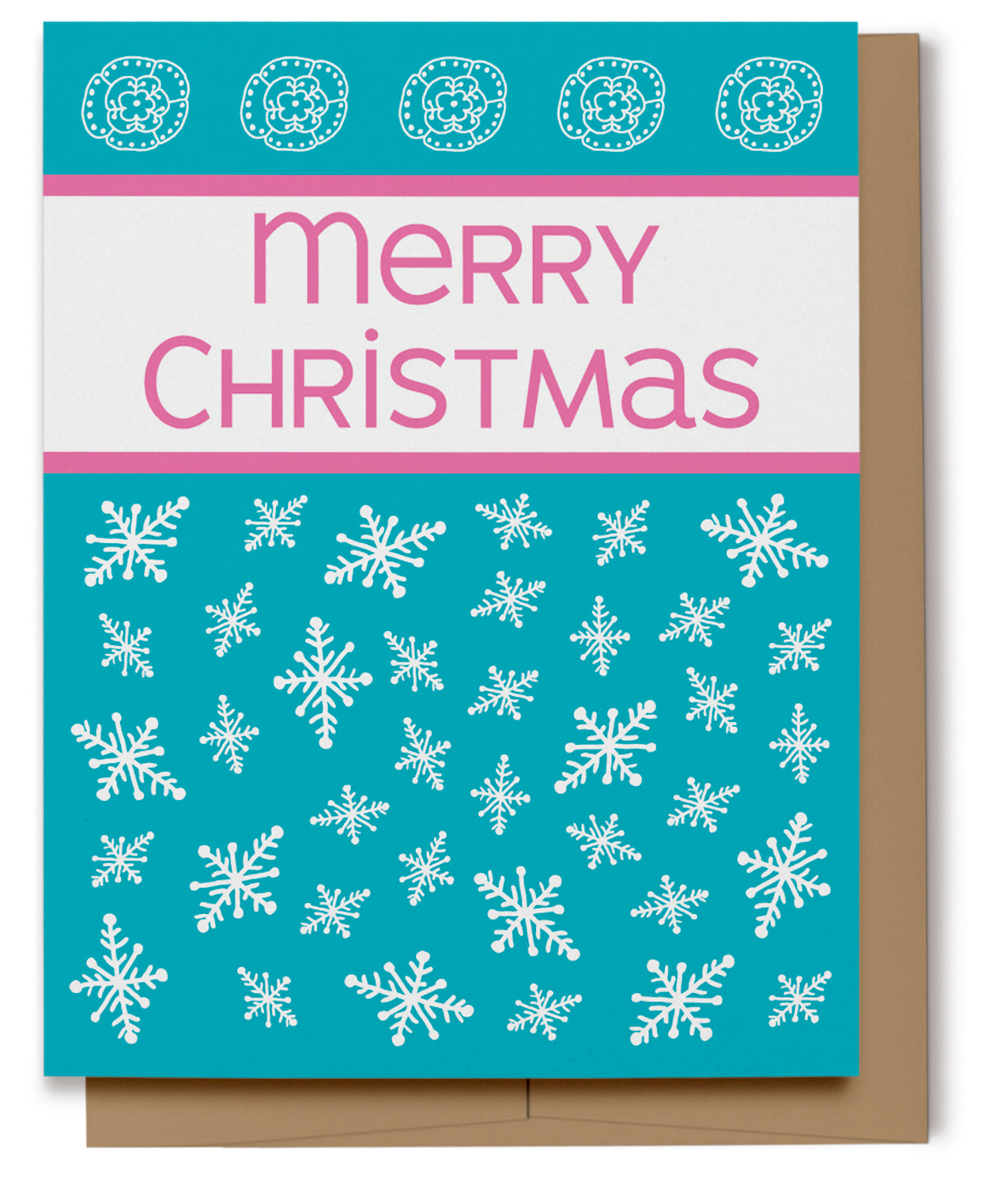 Merry Christmas Card - Blue (100% Recycled)