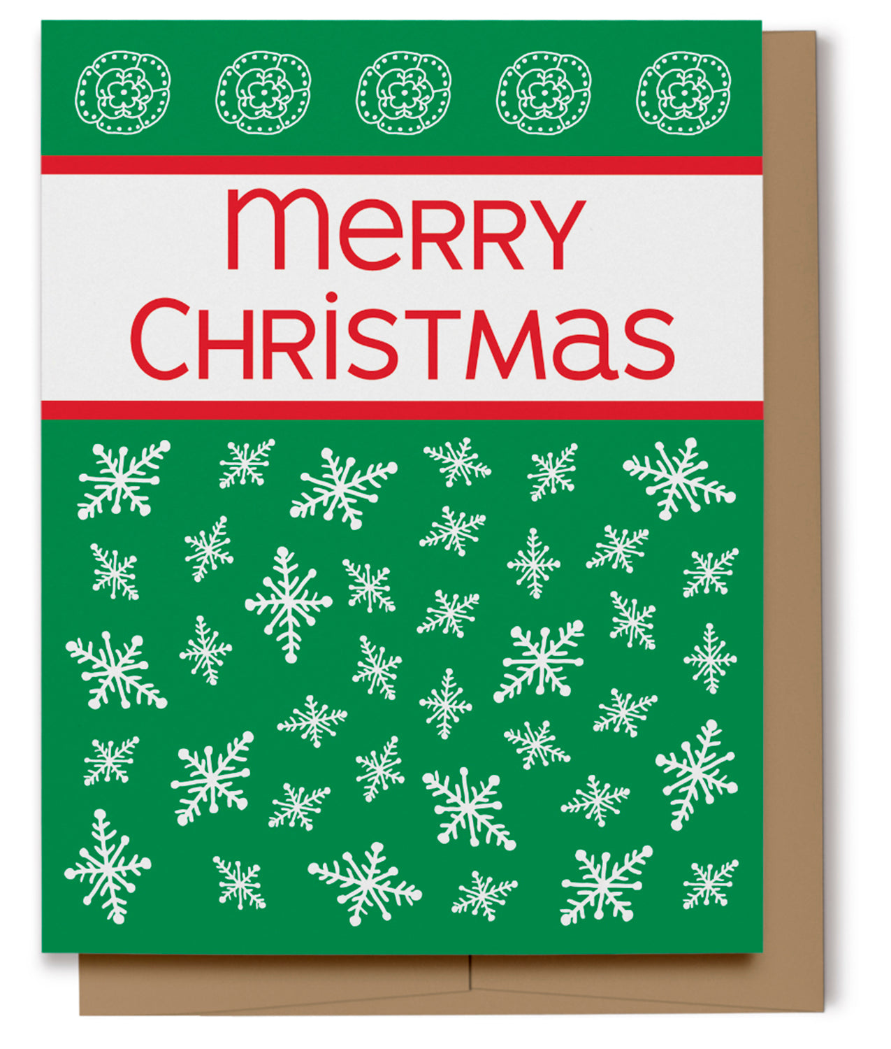 Merry Christmas Card - Green (100% Recycled)