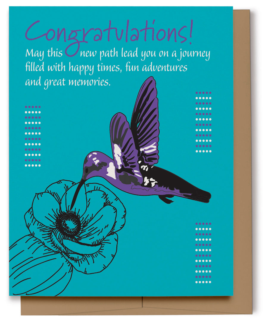 Hummingbird Congratulations Card (Imperfect)