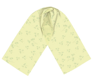 Charming Blooms Delicate Foliage Long Silk Scarf